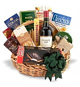 Wine & Gourmet: Traditional Wine and Gourmet Basket