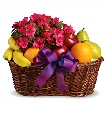 Fruit Gift Baskets: Fruits & Blooms Basket