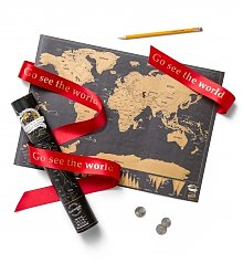 Personalized Keepsake Gifts: Deluxe Edition Scratch Travel Map