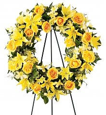 Funeral Flowers: Ring of Friendship Wreath